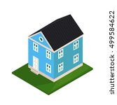 vector icon isometric view of... | Shutterstock .eps vector #499584622