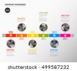 vector infographic company... | Shutterstock .eps vector #499587232