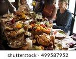 thanksgiving celebration... | Shutterstock . vector #499587952