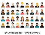 mega set of persons  avatars ... | Shutterstock .eps vector #499589998