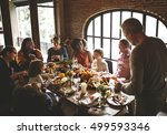 thanksgiving celebration... | Shutterstock . vector #499593346