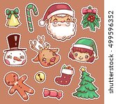 patch badges of different merry ... | Shutterstock .eps vector #499596352