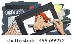 stock illustration. people in... | Shutterstock .eps vector #499599292