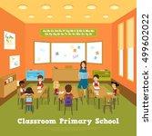primary school classroom... | Shutterstock .eps vector #499602022