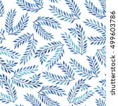 seamless pattern with blue... | Shutterstock . vector #499603786