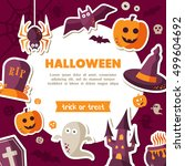 halloween background. place for ... | Shutterstock .eps vector #499604692