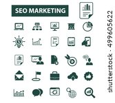 seo marketing icons | Shutterstock .eps vector #499605622