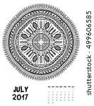 vector calendar 2017. ornament... | Shutterstock .eps vector #499606585