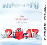 happy new year 2017  holiday... | Shutterstock .eps vector #499608028