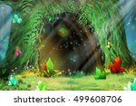 mystery tree hole. video game's ...   Shutterstock . vector #499608706