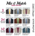 pattern mix and match guide for ... | Shutterstock .eps vector #499611802