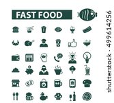 fast food icons  | Shutterstock .eps vector #499614256