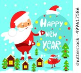 festive greeting card. happy... | Shutterstock .eps vector #499617586