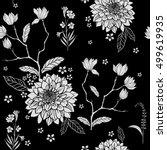 rose sakura garden hydrangea... | Shutterstock .eps vector #499619935