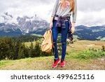 mountain trip fashion details ... | Shutterstock . vector #499625116