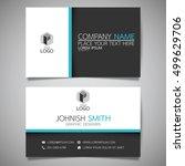blue modern creative business...   Shutterstock .eps vector #499629706