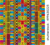 colored texture with ethnic and ... | Shutterstock . vector #499630225