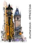 prague  czech republic   a... | Shutterstock . vector #499632166