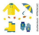 collection of autumn clothing... | Shutterstock .eps vector #499636162