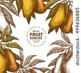 mango tree vintage design... | Shutterstock .eps vector #499636885