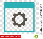 vector gear options calendar...   Shutterstock .eps vector #499639552