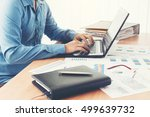 businessman using laptop at... | Shutterstock . vector #499639732
