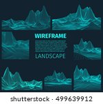 abstract vector wireframe... | Shutterstock .eps vector #499639912