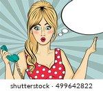 pop art  woman . comic woman...   Shutterstock .eps vector #499642822