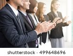 business people  clapping their ... | Shutterstock . vector #499648696