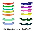vector flat ribbon set isolated.... | Shutterstock .eps vector #499649632