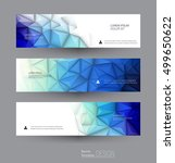 vector abstract banners set... | Shutterstock .eps vector #499650622