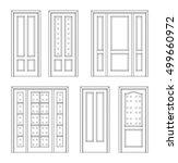 collection interior doors ... | Shutterstock .eps vector #499660972