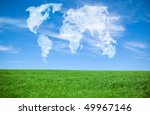 world map shaped clouds | Shutterstock . vector #49967146