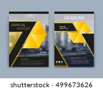 abstract a4 brochure cover... | Shutterstock .eps vector #499673626