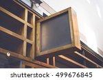 store sign mockup | Shutterstock . vector #499676845
