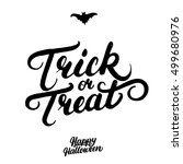 trick or treat hand written... | Shutterstock .eps vector #499680976