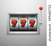 vector slot machine with lucky... | Shutterstock .eps vector #499685722