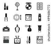 cosmetics icons set. simple... | Shutterstock .eps vector #499686772