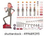 female mechanic character... | Shutterstock .eps vector #499689295