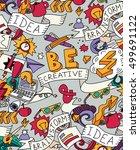 creative doodles idea... | Shutterstock .eps vector #499691122