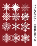 vector set of snowflakes | Shutterstock .eps vector #499692472