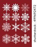 vector set of snowflakes   Shutterstock .eps vector #499692472