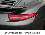 car lights. gray car. luxury... | Shutterstock . vector #499692766