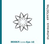vector flower icon | Shutterstock .eps vector #499700746