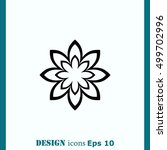 vector flower icon | Shutterstock .eps vector #499702996