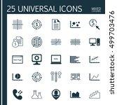 set of 25 universal editable... | Shutterstock .eps vector #499703476
