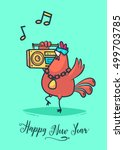 happy new year and merry... | Shutterstock .eps vector #499703785