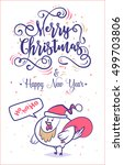 happy new year and merry... | Shutterstock .eps vector #499703806