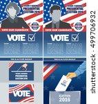 usa 2016 election a4 flyer... | Shutterstock .eps vector #499706932