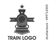 Classic Train Logo  Locomotive...